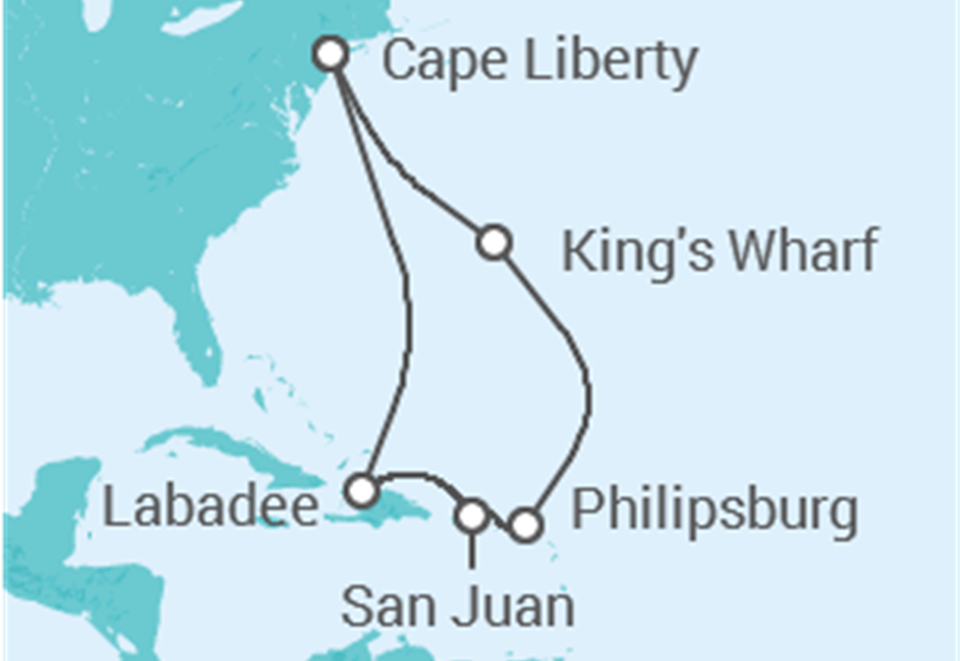 Cruzeiro Sint Maarten, Porto Rico: 10 dias a bordo do Anthem of the Seas - Partida de Nova Iorque - Cape Liberty